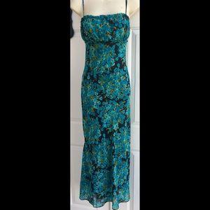 Betsey Johnson Vintage Floral Midi Slip Dress L