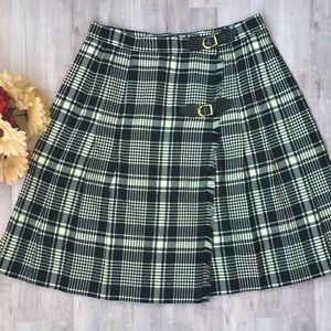 JH Collectibles Vintage 100% Pure Wool Plaid Skirt
