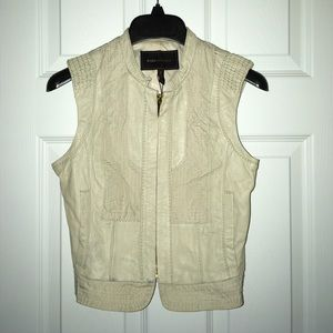 NWT BCBG MAX AZRIA REAL LEATHER VEST!