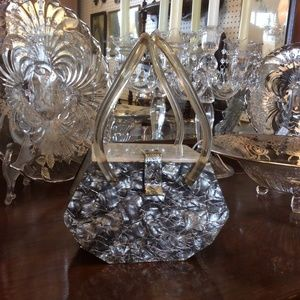 Lucite Rohan by Feiner Confetti Geometric Handbag