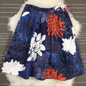 Marimekko for Anthropologie Full Floral Skirt