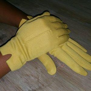 Vintage Mustard Driving Gloves