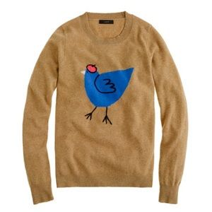 J.Crew Tan French Hen Sweater Sz M
