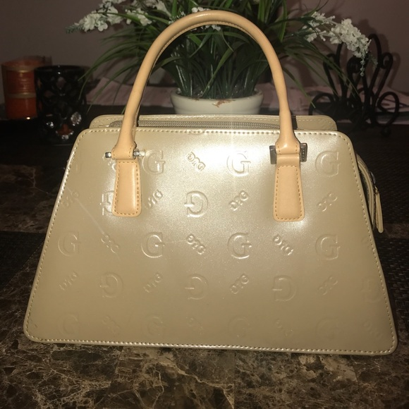 Guess Bags | Cream Lacquer Purse | Poshmark