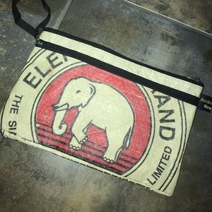 Recycled Andrew Berlin New York elephant wristlet