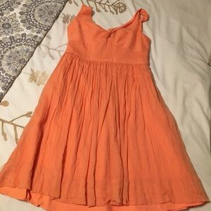 J. Crew orange bridesmaid dress
