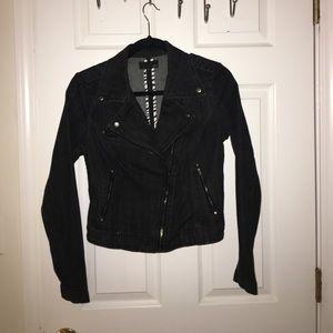 Forever 21 Denim Moto Jacket