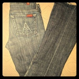 A-pocket bootcut jeans by 7 For All Mankind