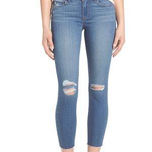 Paige raw hem crop jeans