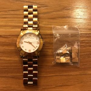Marc Jacobs Amy Gold Watch (needs battery)