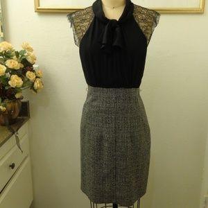 Max&Cleo Black and Gray Short Sleeve Dress