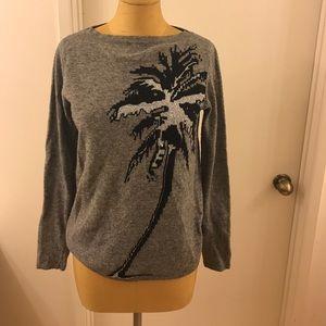ZARAKNIT Palm tree wool and Acrylic sweater