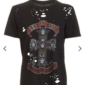 Topshop And Finally Distressed Tshirt US 4-6