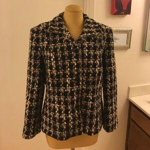 Talbots Petite woven wool jacket Blazer