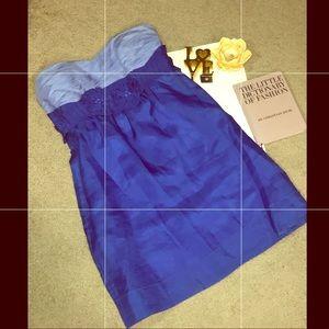 Phoebe Couture strapless mini Silk dress size 8
