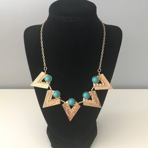 Statement Pointed Turquoise Necklace