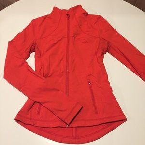 Fun, lululemon zip up red active jacket