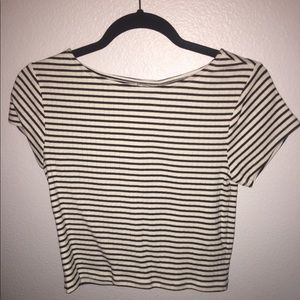 Striped crop top shirt