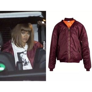 $1985 Vetements Reworked Bomber AS Seen On Rihanna