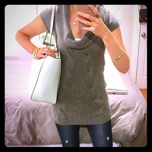 Gray Express Cable Knit Sweater!