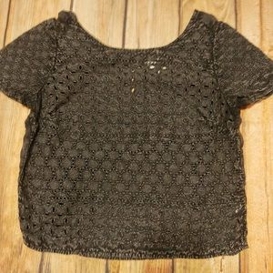 American eagle outfitters lace detail semi crop