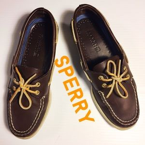 SPERRY Top-Sider Classic Brown Leather shoe 7.5