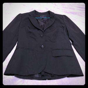 Black suit jacket.