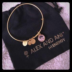 Like New Alex and Ani June (Alexandrite) Bracelet