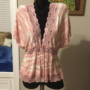 Charlotte Russe, NWT Sheer top- size XL