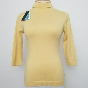 Parkhurst Pullover Sweater Small3/4 Sleeve Yellow