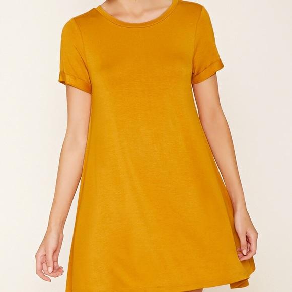 2914cff0ebb Forever 21 Dresses   Skirts - ‼ SALE ‼ Mustard Yellow T-shirt