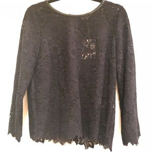 Joie Lace, Leather, and Zipper Top