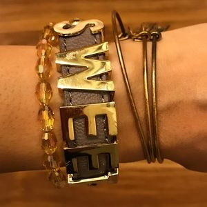 BCBGeneration affirmation Taupe bracelet (sweet)