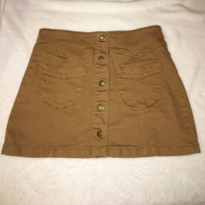 Brownish/ mustard skirt