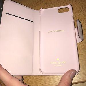 Pink Kate Spade ♠️ iphone7 folio case