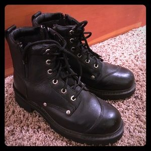 Motorcycle Boots, Genuine Leather, Never Worn!