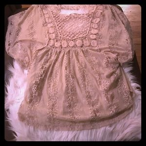 American rag boho top cream with wing arms