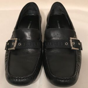 Burberry Leather Loafer with Buckle Black Size 38