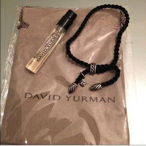 DAVID YURMAN Blk Silk Cord/925 bracelet w/ extras