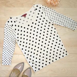 3/4 sleeve black & off white Merona sweater
