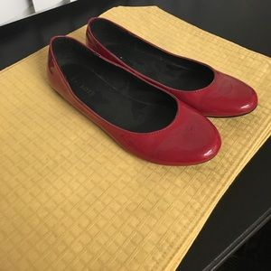 Talbots red flats size 7