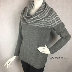 NY&Co cowl neck/off the shoulder sweater