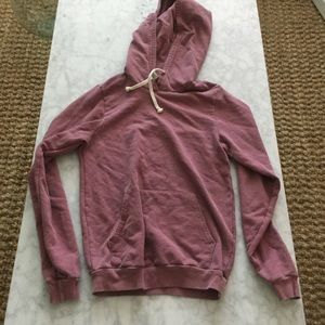 American Apparel Cranberry Washed Hoodie *NEW*