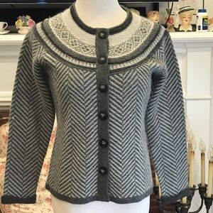 Talbots petites S sweater Lambswool and Angora