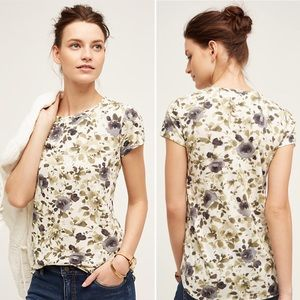 Anthropologie Postmark Flower Days Tee