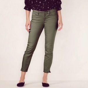LC Lauren Conrad Olive Denim Crop Pants