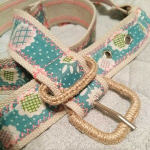Vintage Handmade Floral Belt