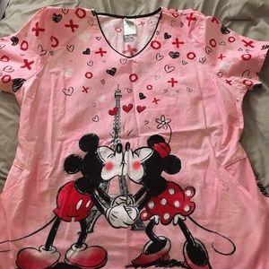 Micky and Minnie scrub top