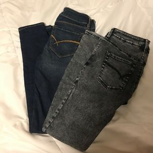 Set of pacsun skinny jeans