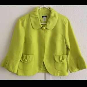 J. Crew Women's Green Jacket - size 2